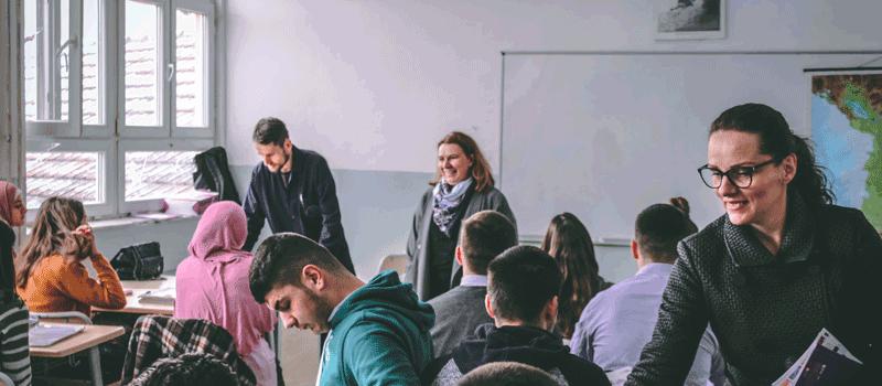 """IBC-M visits Gymnasium """"Frang Bardhi""""-Mitrovicë"""