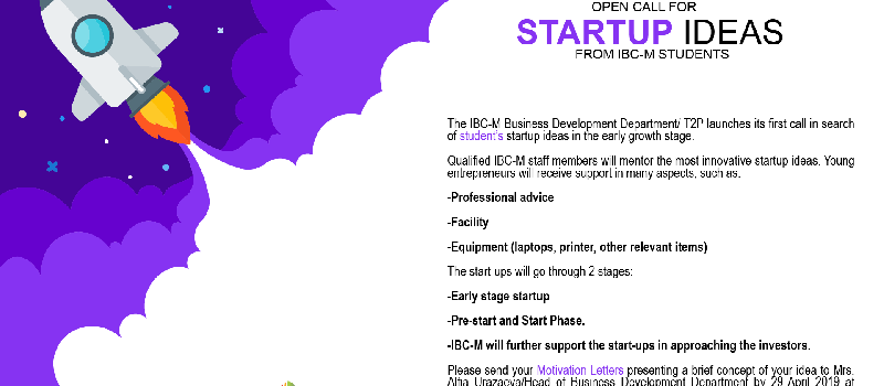 Start-Up Call For IBC-M Students