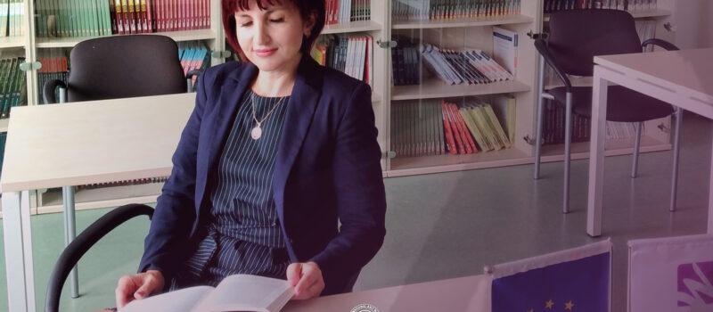 IBC-M host's lecturer, Ms. Monika Moraliyskafrom the University of National and World Economy (UNWE) from Sofia, Bulgaria.