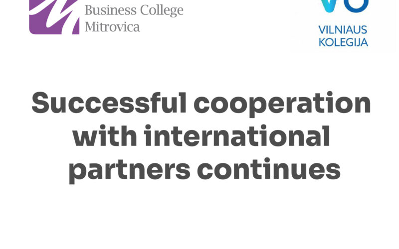 Successful cooperation with international partners continues
